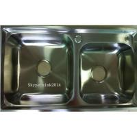 China Factory Suppy double sink kitchenStainless Steel  Sink WY-7742D for sale