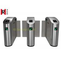 Quality Railway Retractable Security Speed Gates , Bidirectional Stainless Steel Turnstiles Control for sale