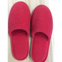 Wholesale Red color Disposable terry cloth hotel slippers with customized logo from china suppliers