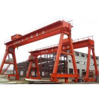 Work Yard A Frame Double Beam Gantry Crane , Optional Color Rubber Tired Gantry Crane for sale