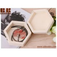 Quality Blank Unfinished Small Polygon Wooden Box for Diy Crafts Projects With Lid And Clasp for sale