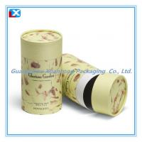 Wholesale round paper canister for tea from china suppliers