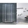 Simple Diamond Shape Frameless Hinged Shower Door Clear Glass For Home / Villa for sale