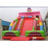 Wholesale Two Climbing Ladders Commercial Inflatable Slide , 7M Height Inflatable Clown Slide For Players from china suppliers