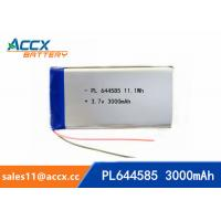 Wholesale 644585 pl644585 3.7v 3000mah battery li-polymer type 3Ah full capacity battery for miner lamp from china suppliers