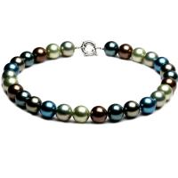 Wholesale Luxury Luster Mix Colours Round 14mm Shell Pearls Necklace 18 inches (N14002) from china suppliers