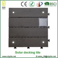 Wholesale outdoor Solar Light WPC interlocking Tile DIY Decking Tile from china suppliers
