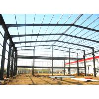 China Industrial Prefabricated Building Structure / Steel Frame Structure Construction for sale