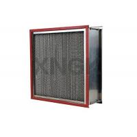 Buy cheap Waterproof High Temperature HEPA Filters 0.3 Micron Aluminum Alloy Frame from Wholesalers