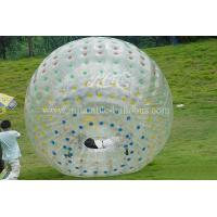 China Transparent Inflatable Walking Ball , Pvc Soft Handle Water Zorb Ball Football on sale