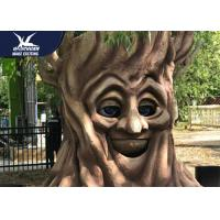 Anti - Rust Steel Frame Animatronic Talking Tree Model For Exhibition for sale