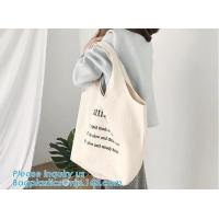 China customized cotton canvas tote bag cotton bag promotion recycle organic cotton tote bags wholesale,Handle Canvas Bag Tote on sale