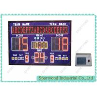 Buy cheap Small Digital Electronic Basketball Scoreboard With Led Moving Message Display from Wholesalers