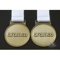 Buy cheap Bespke Netherlands Logo Awards And Medals Both Side Antique Gold Plating from wholesalers