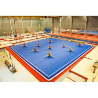 Wholesale Lightweight Grey Gym Crash Mats , Portable Air Gymnastics Floor Flameproof from china suppliers