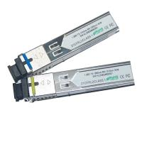 Wholesale Single Fiber 1.25G 10km E1MG-BXD BIDI SFP Transceivers For Digital video / CCTV from china suppliers