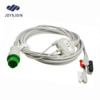 China Fukuda  ECG Cable, 3 lead ecg electrode cable,5 lead ecg cable clip for sale