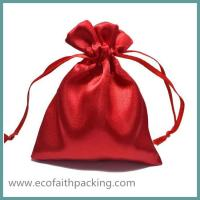 Wholesale red blank satin jewelry pouch logo customized from china suppliers