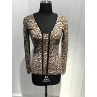 Wholesale Customized Design Women'S Leopard Print Sweater Natural Material 15JT 004 from china suppliers