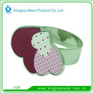 China Metal napkin ring on sale