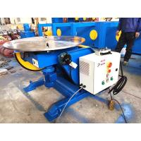 China Automatic Pipe Welding Positioners With Hand Control Box 1300 lbs Capacity Welding Turn Tables on sale