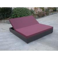 Wholesale Outdoor Rattan Material Chaise Lounge Daybed In Double,Cushion Cover With Adjustable Back from china suppliers