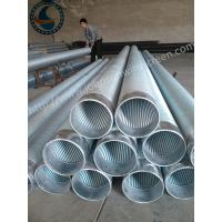Wholesale Full Welded Johnson Screen Pipe , Stainless Steel Well Pipe For Water Well Drilling from china suppliers