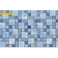 Wholesale Hand Painting Glass Mix Stainless Steel Mosaic Tiles , Glass And Metal Mosaic Tile from china suppliers