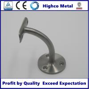 Quality Handrail Bracket for Stainless Steel Balustrade 42.4mm Glass Fitting Handrail for sale