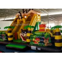 Wholesale Inflatable Green Palm Tree Animal Zoo Commercial Bounce Houses For Kids 10m L * 7m W *5.2m H from china suppliers