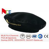 Wholesale FUN Black Mercerized Female Green Beret Hat Embroidered Velvet Beret Hat Breathable from china suppliers