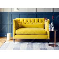 Wholesale Yellow Living Room Sofa Set High Density Foam Two Seater Small Sofa Sectionals from china suppliers