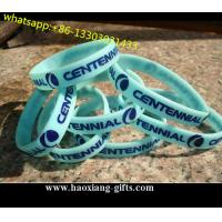 Manufacturer Fashion  light blue custom Silicone Wristband/braclet for Promotion for sale