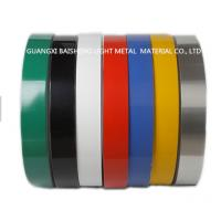 Wholesale Color Coated Aluminum Strip Coil Double Coating 25 Micron Single Coating 18 Micron from china suppliers