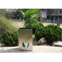 Wholesale Eco Friendly Stainless Steel Garden Pots , Stainless Steel Plant Containers from china suppliers