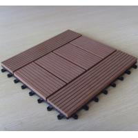 China Customized Pattern Wood Deck Tiles For Balcony , Brown Timber Decking Tiles 300*300*22mm on sale