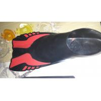 Quality Adults PP and TPR Skin Diving Fins with Professional Design , Black Red for sale