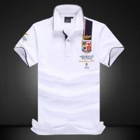 China Men's New Latest Sports Design High Quality Short Sleeve Polo Shirt with Emboridery Patches for sale