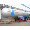 HOT SALE! cheaper new Biggest 61.9cbm propane gas tanker semitrailer for sale, road transported lpg gas tanker for sale for sale
