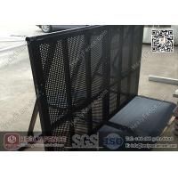 Wholesale 1.2m high Black Color Aluminum Crowd Control Barrier with Footplate from china suppliers