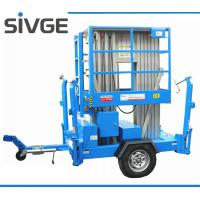 Quality 10m Hydraulic Trailer Mounted Lift Aluminium Alloy Dual Mast Mobile Aerial Platform for sale