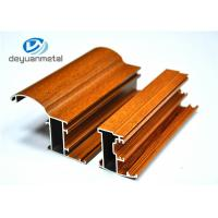 Wholesale Customized Wood Grain Aluminum Extrusion Profiles For Doors 6063-T5 / T6 from china suppliers