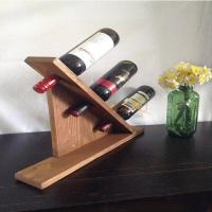 Quality MDF Countertop Display Shelves Wooden Wine Bottle Holder DIY Gift for sale