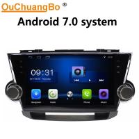 Wholesale Ouchuangbo car radio multi media touch screen for Toyota Highlander 2011-2014 with USB SWC 1080 gps navi android 7.0 from china suppliers