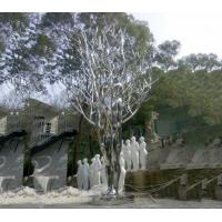 China Mirror Polished Garden Ornaments Sculptures , Metal Yard Sculptures Stainless Steel for sale