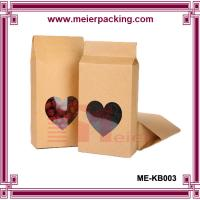 Wholesale Custom dried food packaging kraft paper bag with heart-shape window for loose tea ME-KB003 from china suppliers