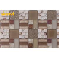 Wholesale Wear resistant bedroom Glass And Metal Mosaic Tile , Glazed Mosaic Tile from china suppliers