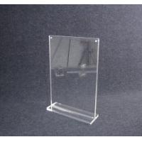 Wholesale COMER A4 acrylic tabletop holder menu display stand clear lucite with alarm display system from china suppliers