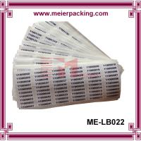 Wholesale Removeable Label Sticker/Custom Vinyl Numbered Sticker/Destructible Sequential Numbers Label  ME-LB022 from china suppliers