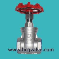 Wholesale inside threaded stainless steel gate valve from china suppliers